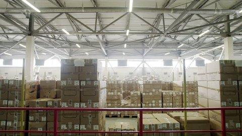 Large warehouse logistics terminal