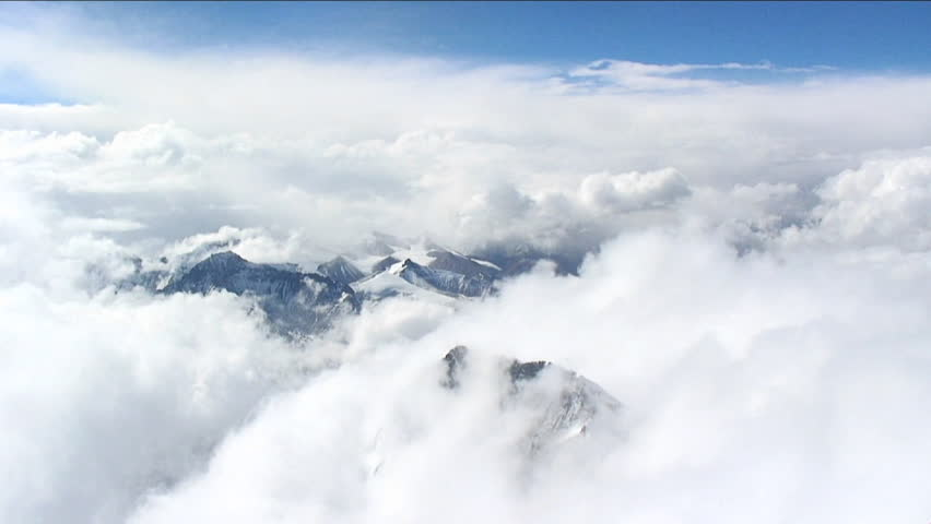 Looking down through clouds to Tibet | Shutterstock HD Video #4879142