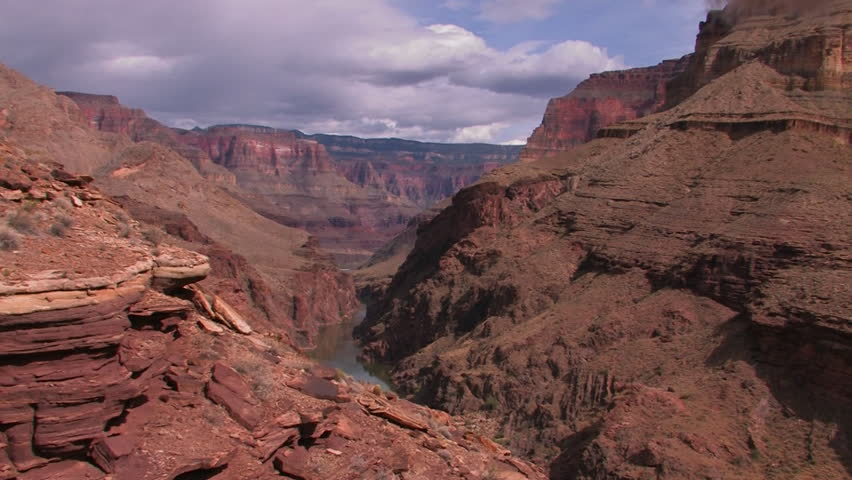 A view along the Grand Canyon in Arizona. | Shutterstock HD Video #4898972