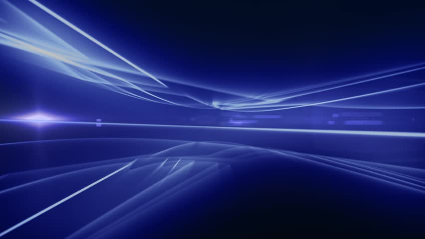 News Style Background - Blue Abstract Motion Background with Lines and Lens