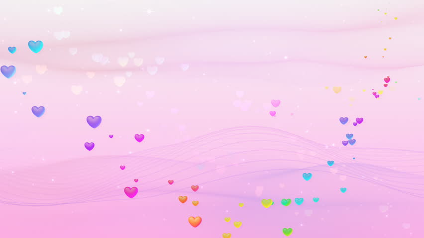 Seamless Romantic Wedding Background Stock Footage Video