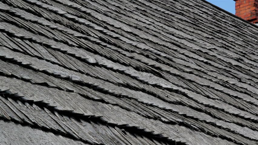An Up Close Image Of The Old Clean Red Cedar Wooden Shingle Shake Roof With