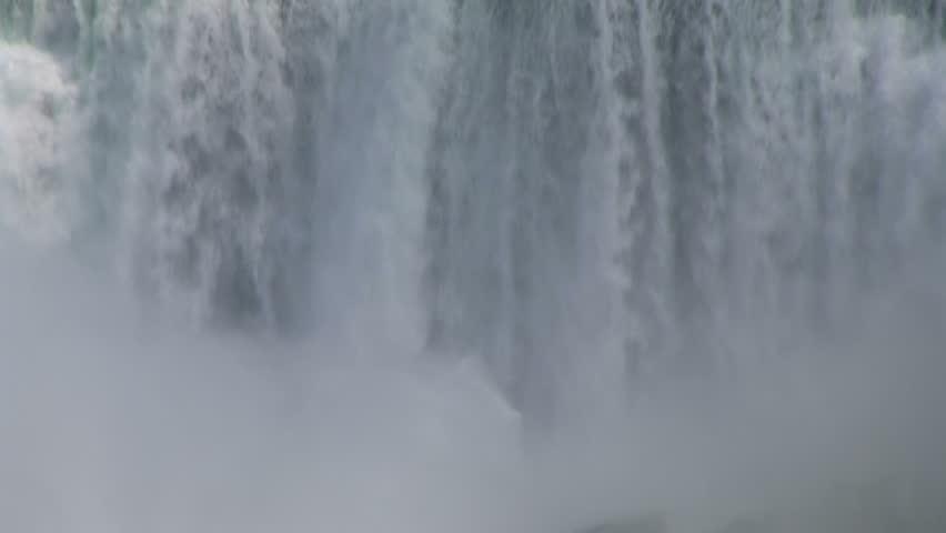 Wall of falling water. Niagara Falls, Ontario, Canada.