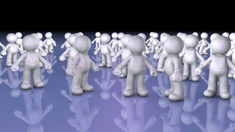 People Question - Team or customers transform into question mark, concept animation