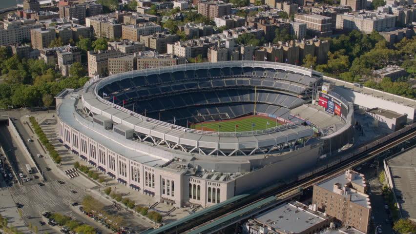 New York City, NY - October 26, 2012: Aerial shot of Yankee Stadium, New York City