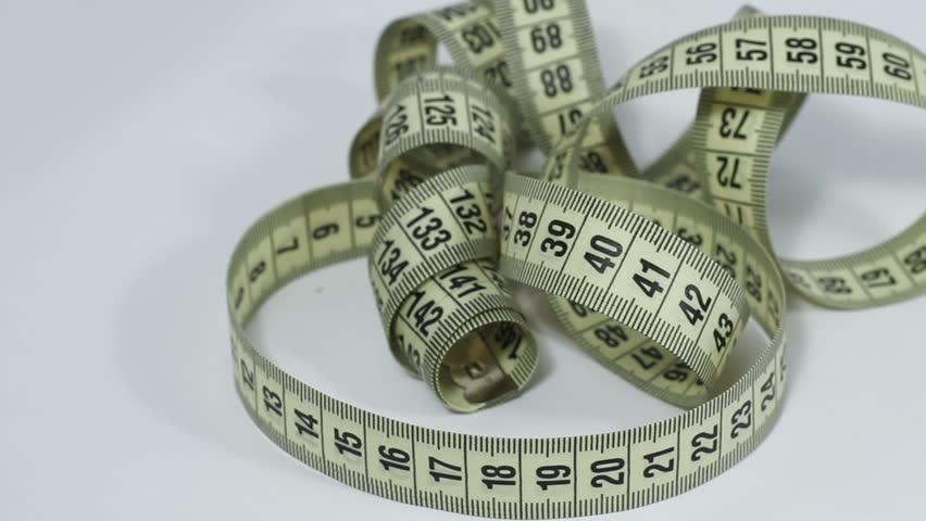 Tape measure rotating close up