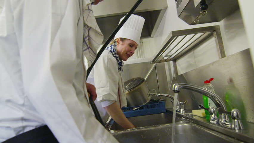 Stock video of team of chefs in a professional | 5101922 | Shutterstock