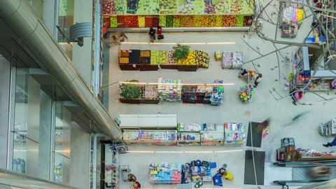 ODESSA - JUNE 15 (TIMELAPSE): People activity in Tavria-V supermarket on June 15, 2013 in Odessa, Ukraine. Every day over 120,000 people shop at Tavria-V shopping centers and supermarkets in Ukraine.time lapse.