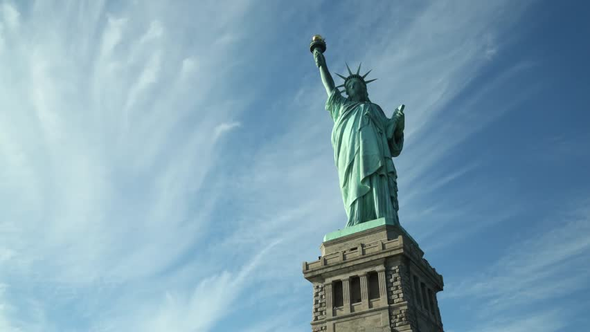 NEW YORK. USA. October 2013. Statue Of Liberty. The statue attracts 3.2m visitors a year. | Shutterstock HD Video #5122502