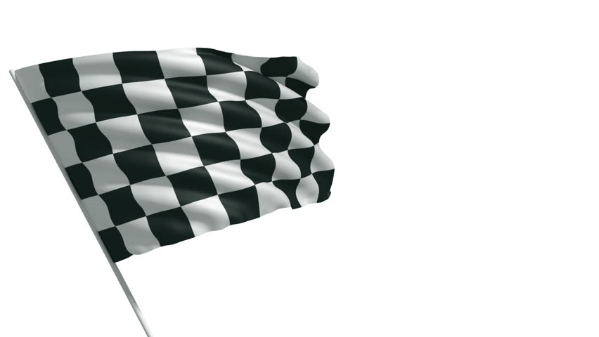 Waving 3d animation of checkered flag