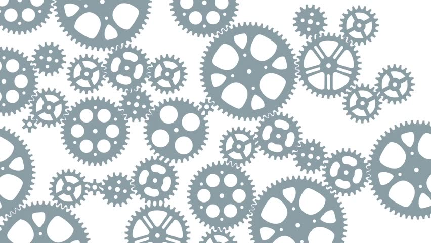 loop animated gears animation for stock footage video  100