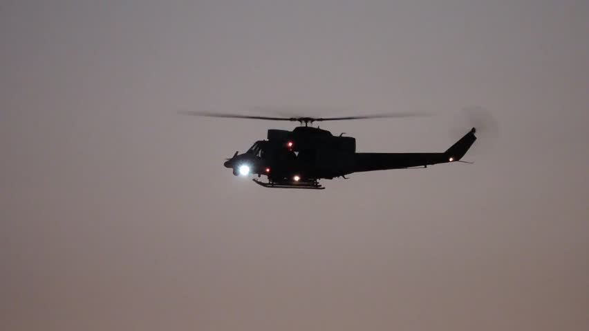 Police helicopter, special forces unit in Catania (Italy),  27 november 2013.