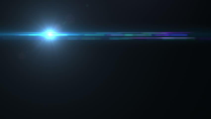 คลิปวิดีโอสต็อกของ Lens Flare Effect On Black Background