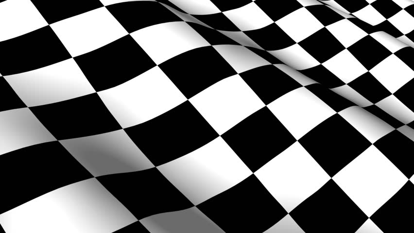 Checkered flag Footage | Stock Clips