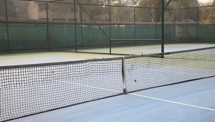 Tennis court with balls | Shutterstock HD Video #5225312