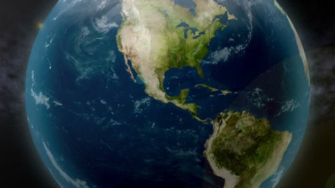 Earth zoom to Mexico. Available in 4K Ultra HD.