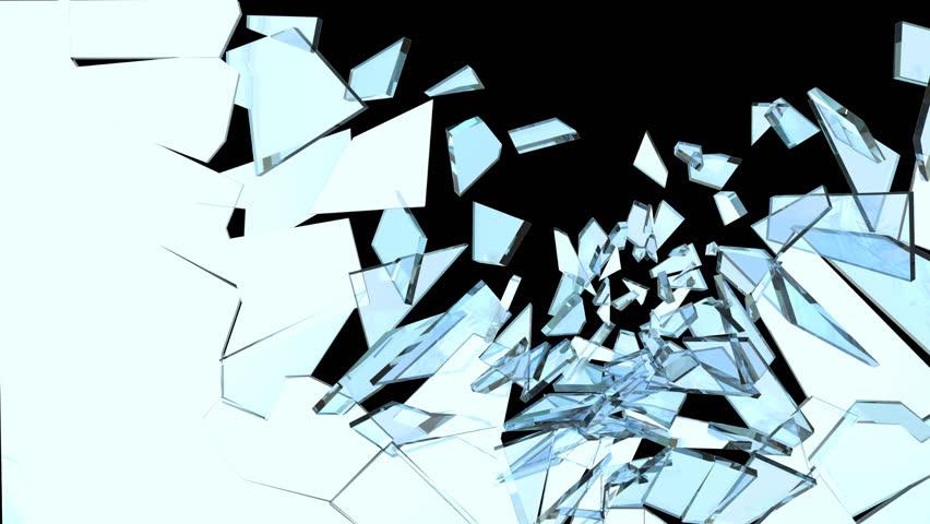 Slow Motion Glass break with alpha channel | Shutterstock HD Video #5237702