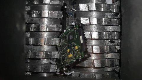 Hard drives data destruction done with a hard drive shredder