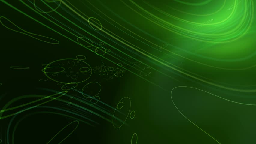 Animation of Dark Green Lens Flares And Vector Lines Abstract Background 