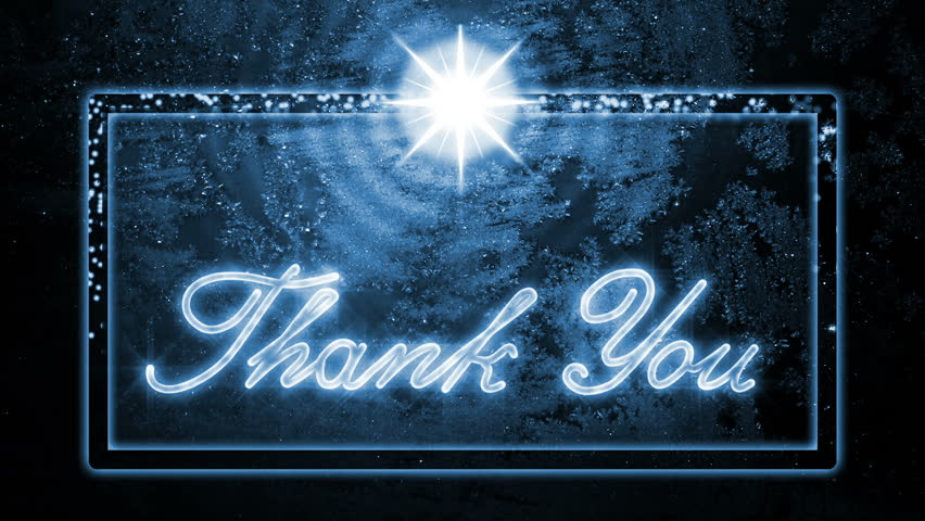 Thank You Classic Christmas Style, handwritten with ice, Greeting Video