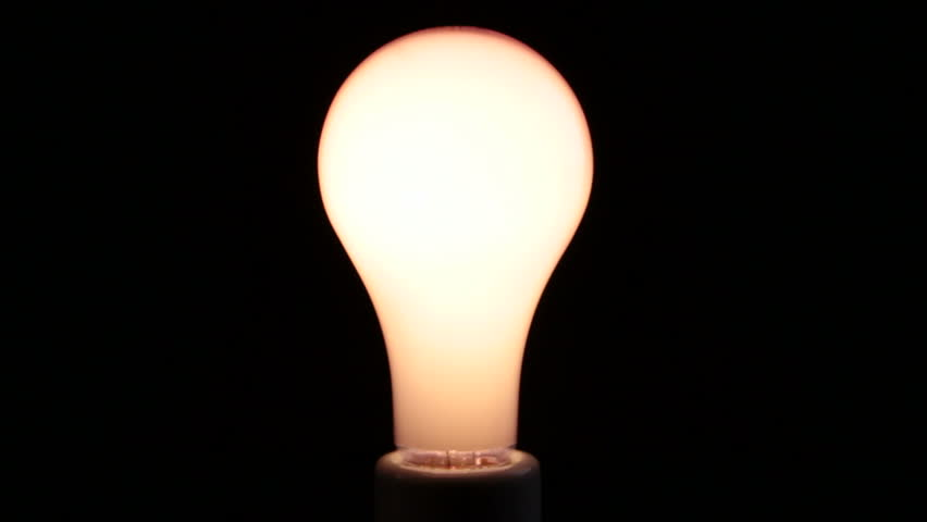 A soft bulb flickers, is a storm coming?