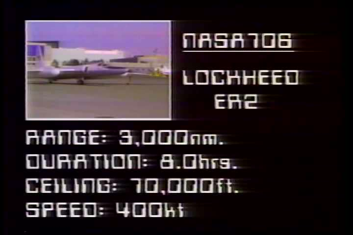 A 1980s NASA film discussing the aircraft used by the Ames Research Center in astronomy and earth studies. This section address the U2 and ER2 high altitude aircraft. #5273372
