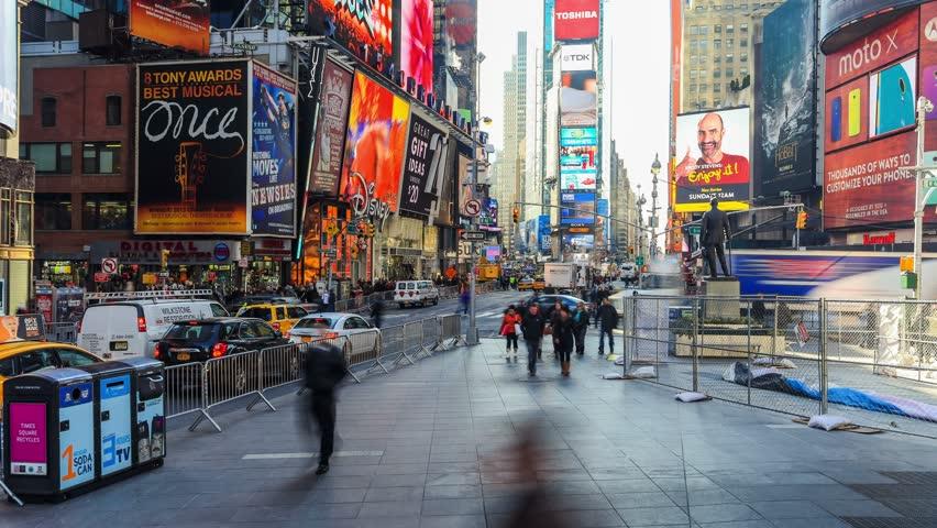 7e9e84c5b24 NEW YORK - DECEMBER 13  Times Square time lapse on December 13th 2013.