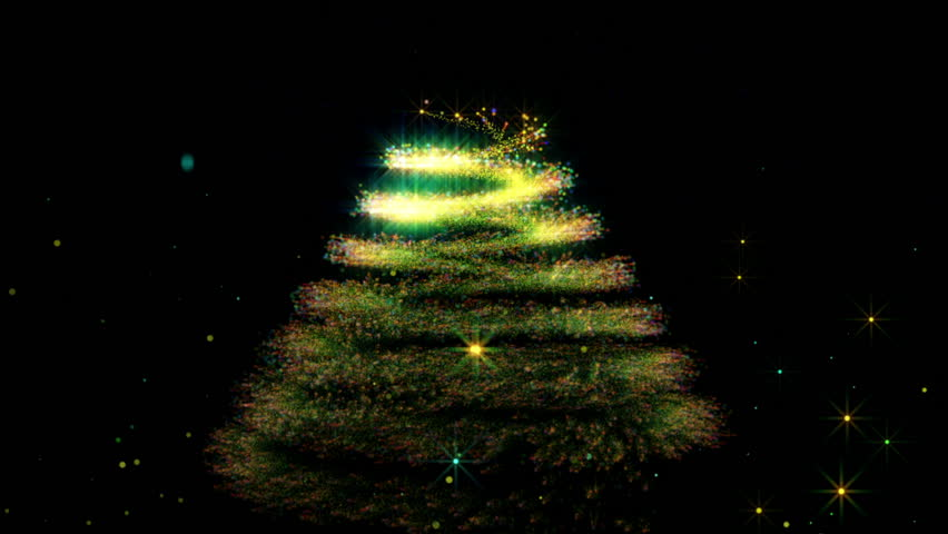 Snow With Abstract Christmas Tree Stock Footage Video 100 Royalty Free 5315762 Shutterstock