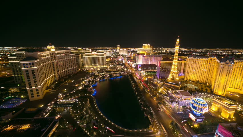 Las Vegas strip 4k ultra hd timelapse night neon | Shutterstock HD Video #5355902
