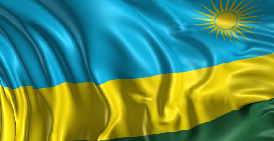 Flag Of Rwanda Beautiful D Animation Of The Rwanda Flag In Loop - Rwanda flag
