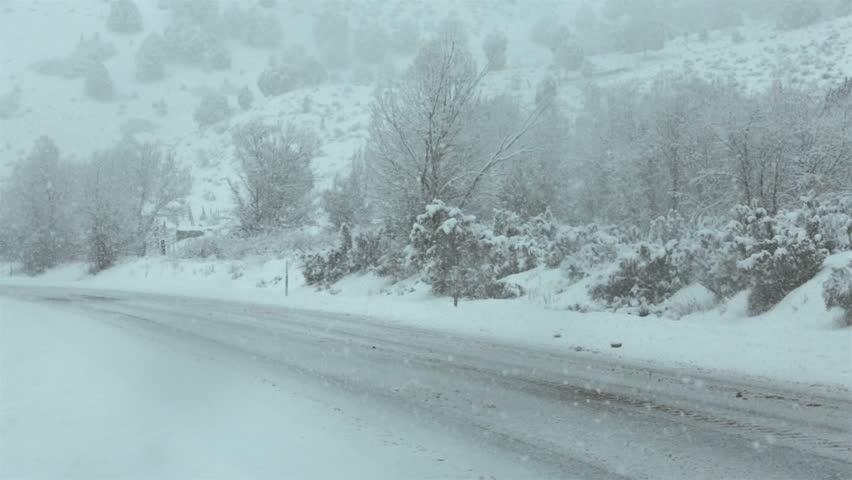 Snow covered Badger Mountain Road : Photos, Diagrams &- Topos ...