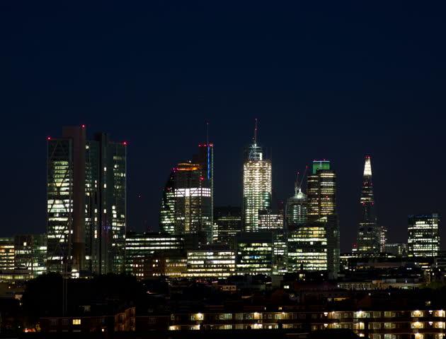 London skyline at night   Shutterstock HD Video #5406632