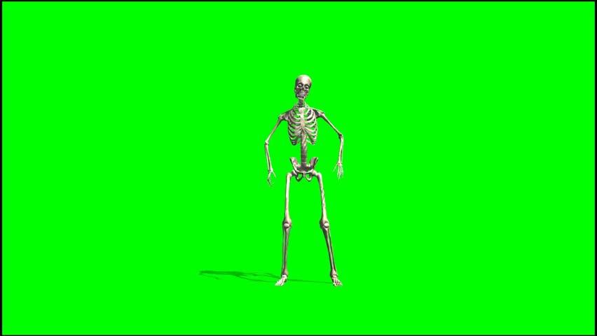 Skeleton dancing rap - seperated on green screen    Shutterstock HD Video #5415479