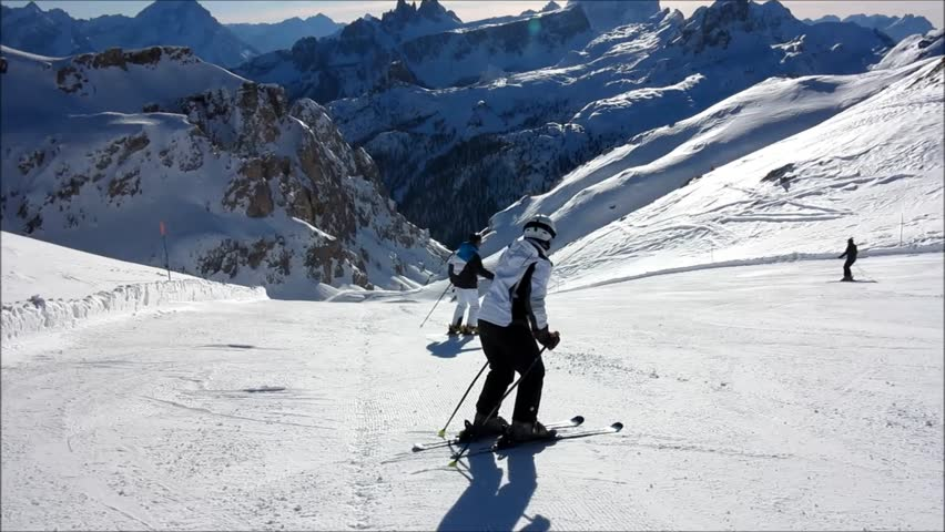 Skiing on the dolomites | Shutterstock HD Video #5432882