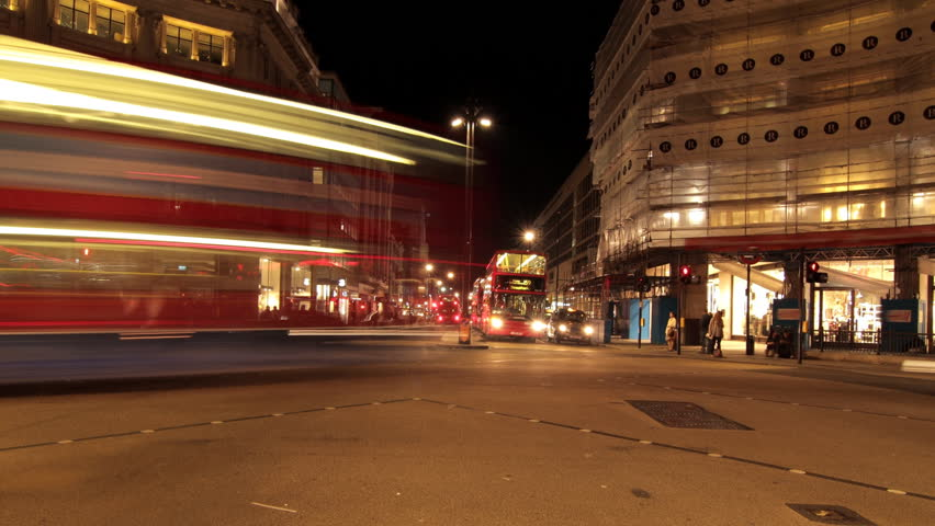 OXFORD STREET NIGHT | Shutterstock HD Video #5433299