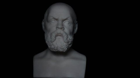 Socrates lived in Athens was a Greek Athenian philosopher is one of the most important figures in the world. It is one of the founders of Western philosophy.  White marble bust of him.