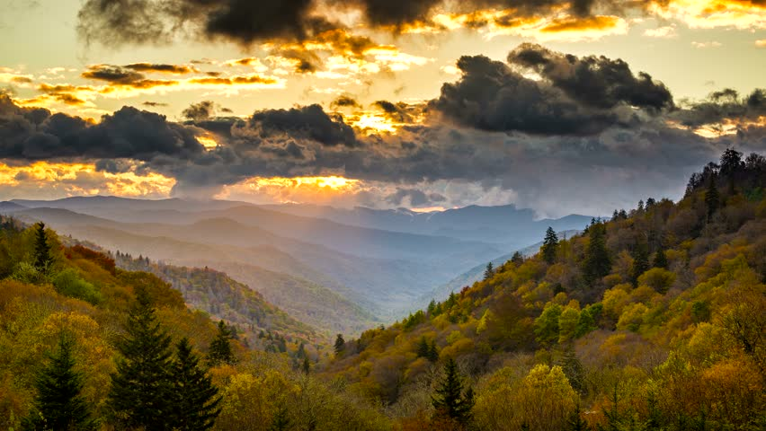 Smoky Mountains National Park time lapse.