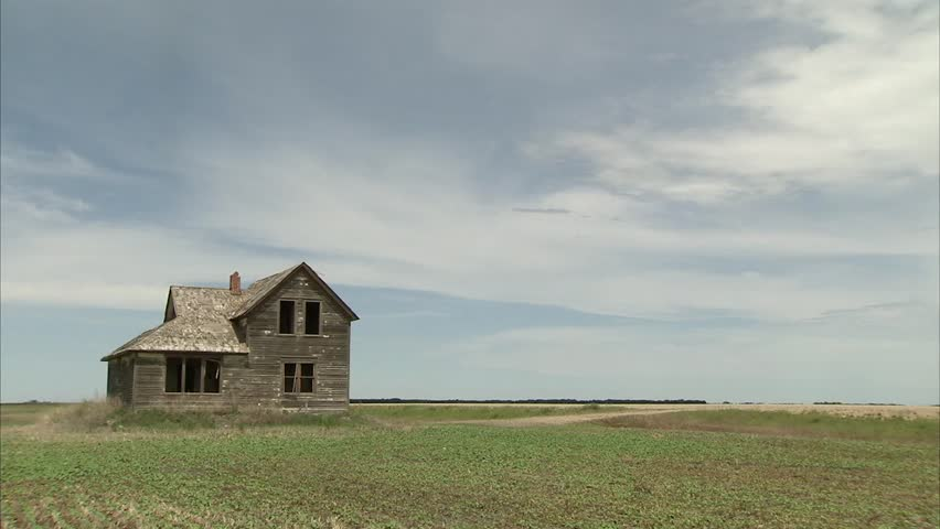 Abandoned Farmhouse in the Manitoba Stock Footage Video (100% Royalty-free)  5452682 | Shutterstock