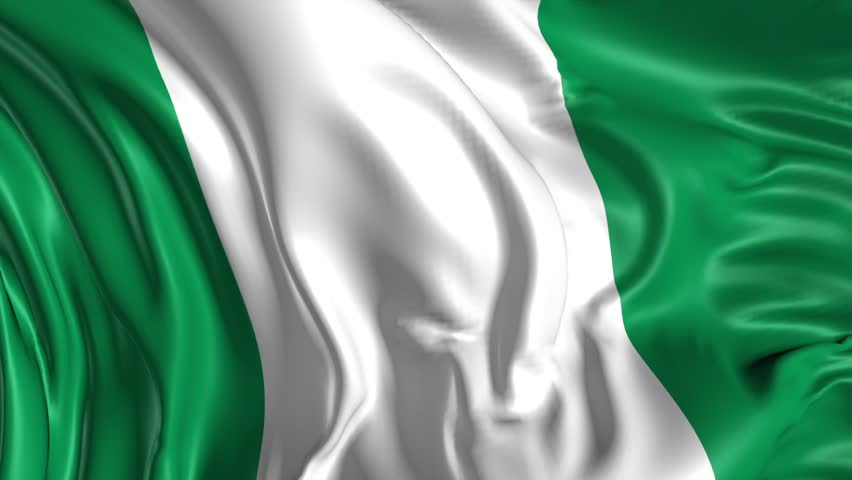 flag of nigeria beautiful 3d animation of the nigeria flag in loop