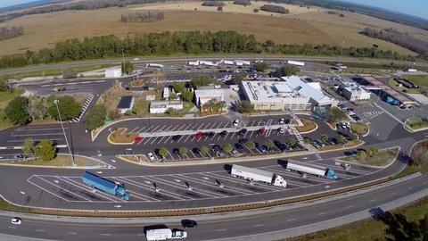 Interstate 75 rest stop aerial footage