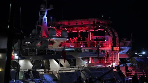 The party on the big boat in Monaco