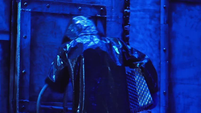 Closing door bins a man in a gas mask goes downstairs - HD stock video & Closing Door Bins A Man In A Gas Mask Carefully Closes Door Stock ... Pezcame.Com