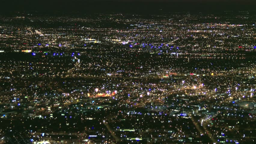 4K Huge City Metropolis Power Outage Blackout