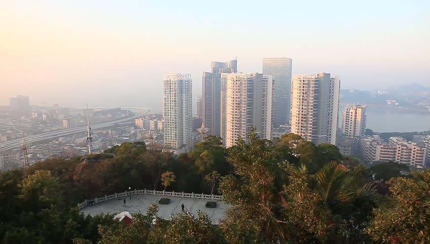 Sun rise In Xiamen City, Fujian Province, China  | Shutterstock HD Video #5526002