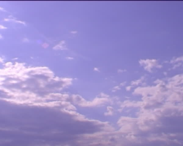 30sec. speed-up footage of clouds moving