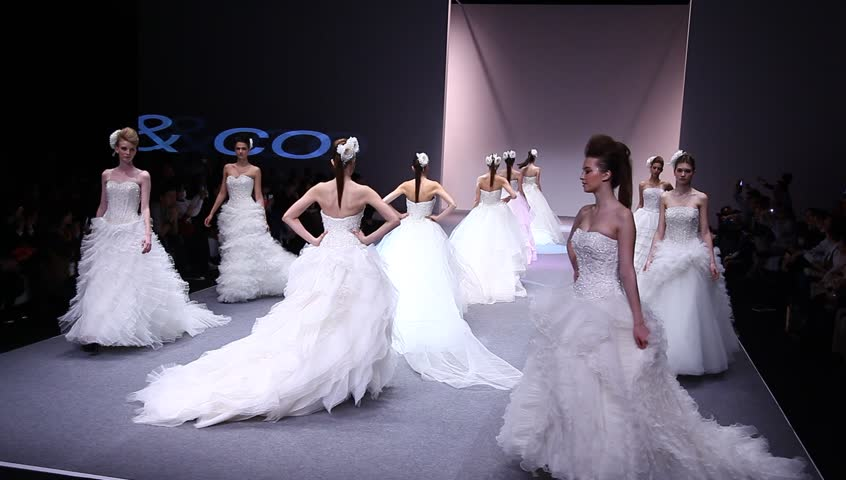 Hong Kong Sar China January 13 Ken So Presents Wedding Gowns Catwalk During Fashion Week Haute Couture Show On The Runway With Latest