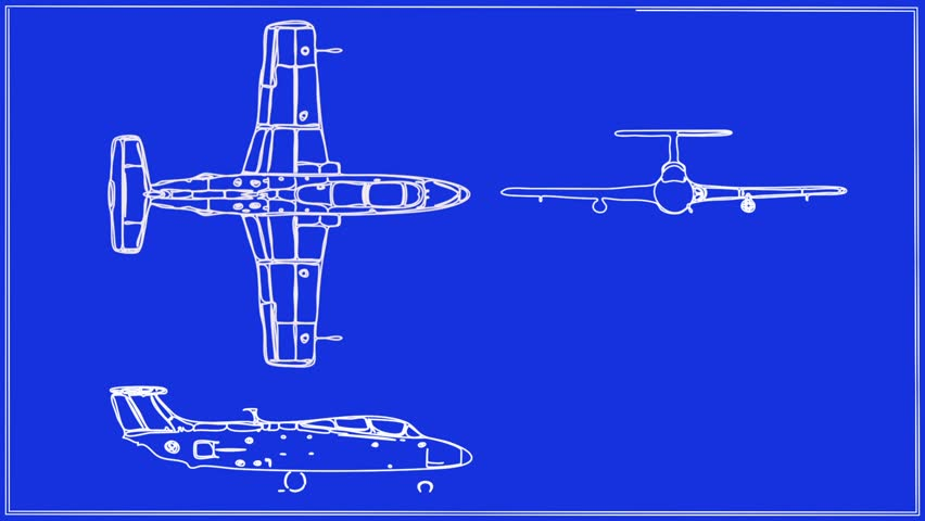 Jet aircraft technical drawing blueprint stock footage video jet aircraft technical drawing blueprint stock footage video 5597792 shutterstock malvernweather Gallery