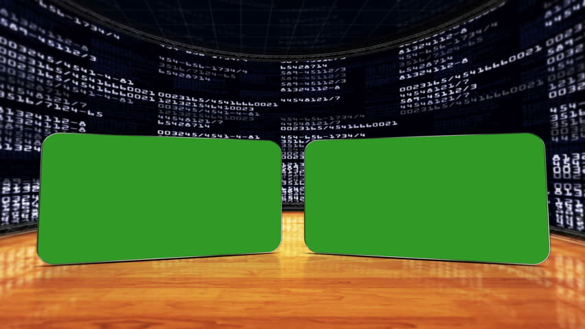 Two Green Screen Monitors in Numbers Room, with Alpha Channel | Shutterstock HD Video #5623742