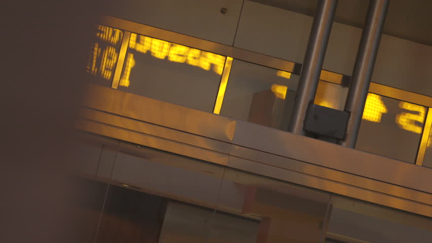Abstract reflection of Stock Ticker at Canary Wharf, London | Shutterstock HD Video #5641100