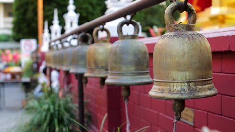 Bells in Buddhist Temple (with Stock Footage Video (100